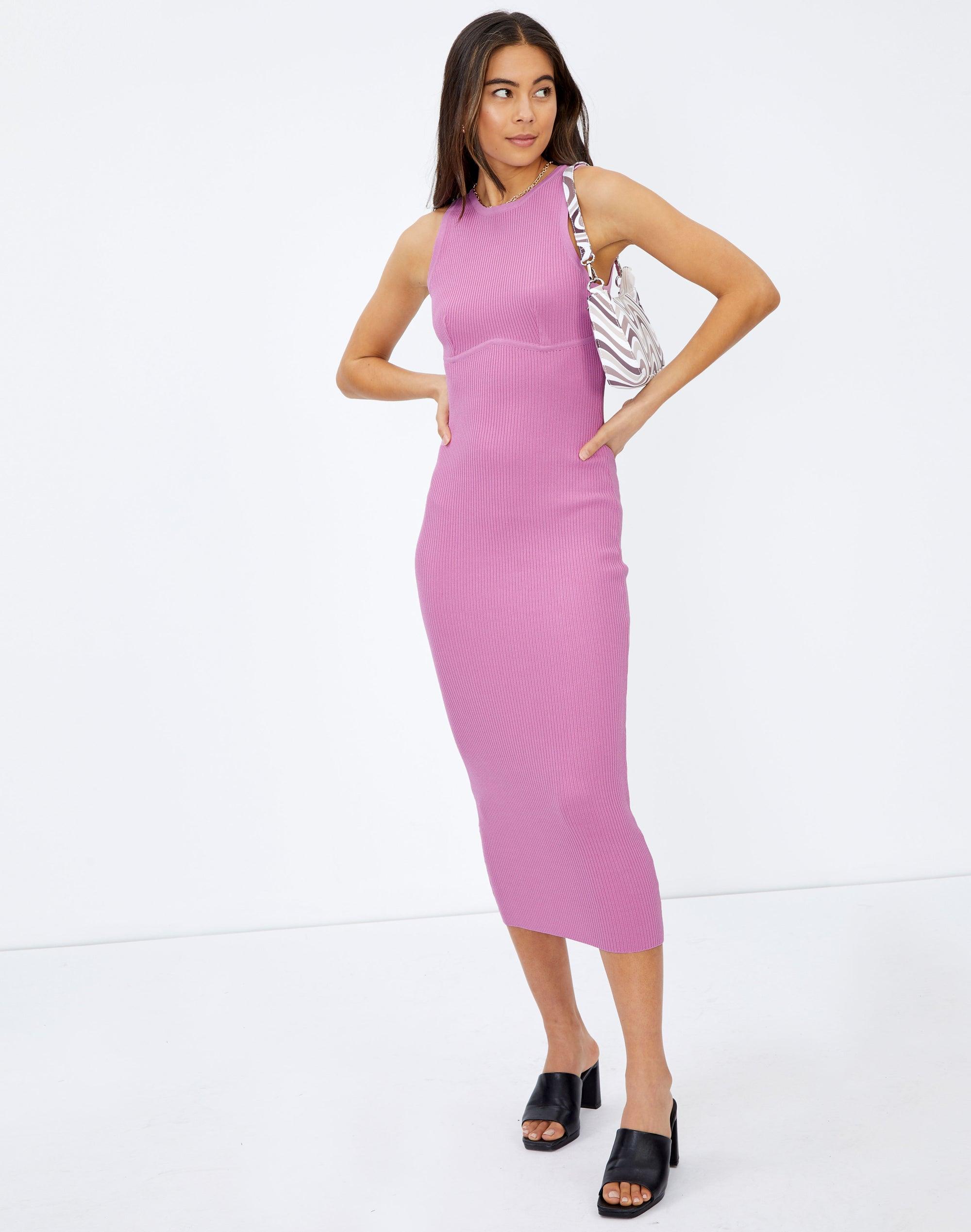 Stitch Underbust Sleeveless Midi Dress
